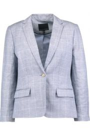 Windowpane Blazer by Banana Republic at Banana Republic