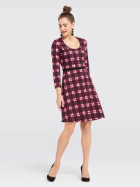 Windowpane Knit Dress by Draper James at Draper James