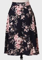 Winter Blossom Printed Skirt at Ruche
