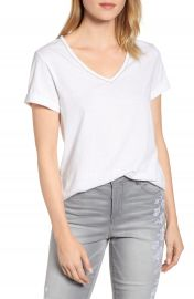 Wit  amp  Wisdom Chain Trim V-Neck Tee  Nordstrom Exclusive    Nordstrom at Nordstrom