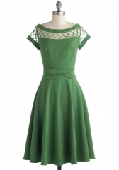 With Only a Wink Dress in Peridot at ModCloth