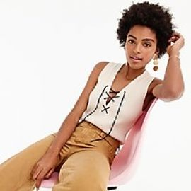 Women s Ribbed Lace-Up Sweater Tank at J. Crew