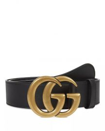 Women\'s Leather Belt with Interlocking Double G Buckle at Bloomingdales
