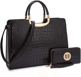 Women s Fashion Handbag Shoulder Bag Tote Satchel Purse Top Handle Work Bag with Matching Wallet at Amazon