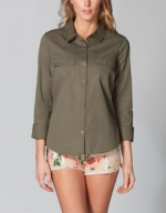 Womens Military Shirt by Full Tilt at Tillys at Tillys