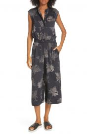 Woodblock Floral Sleeveless Jumpsuit at Nordstrom