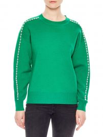 Wool-Blend Embellished Crewneck Sweater at Saks Fifth Avenue