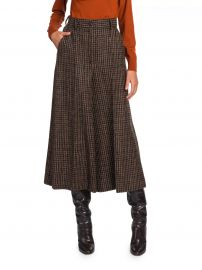 Wool-Blend Check Culottes at Saks Fifth Avenue