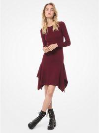 Wool Blend Handkerchief Dress at Michael Kors