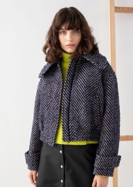 Wool Blend Herringbone Jacket at & Other Stories