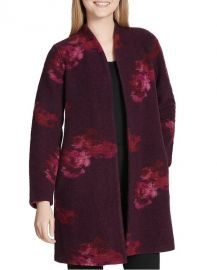 Wool Blend Printed Cardigan by Calvin Klein at Overstock
