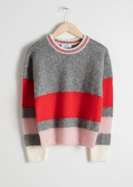 Wool Blend Striped Sweater by & Other Stories at & Other Stories