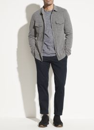 Wool Cashmere Long Sleeve Shirt at Vince