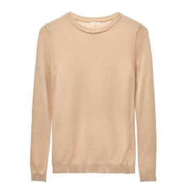 Wool Cashmere Slim Crewneck Sweater at Cuyana