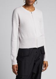 Wool-Cashmere Zip-Front Cardigan at Bergdorfgoodman