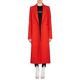Wool Double Breasted Coat by Givenchy at Barneys