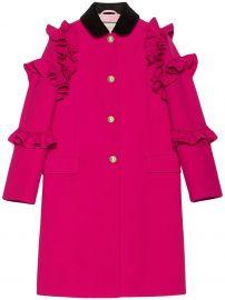 Wool Flounce Coat  Gucci at Farfetch