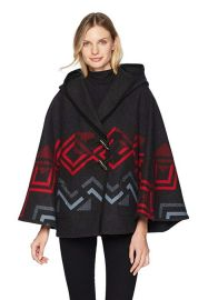 Wool Hooded Shawl Collar Cape by Pendleton at Amazon