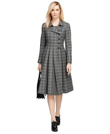 Wool Plaid Coat at Brooks Brothers