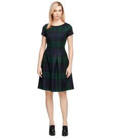 Wool Plaid Dress at Brooks Brothers