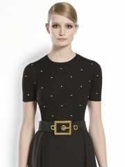 Wool Polka Dot Top at Gucci