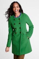 Wool Scoopneck Coat at Lands End