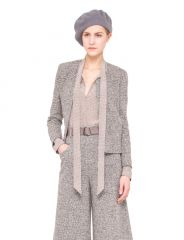 Wool Stretch Tweed Jacket at Akris