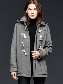 Wool Toggle Coat in Grey at Gap