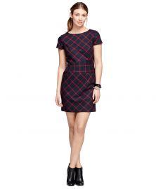 Wool Windowpane Dress at Brooks Brothers