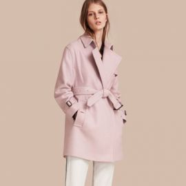 Wool Wrap Trench Coat at Burberry
