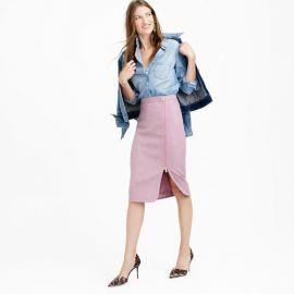 Wool Zip Pencil Skirt at J. Crew