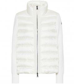 Wool and down jacket at Mytheresa