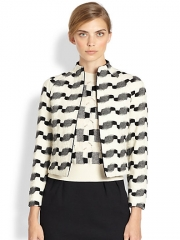 Wool and jackquard jacket by Akris at Saks Fifth Avenue