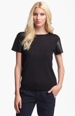 Wool and leather tee by Vince at Nordstrom
