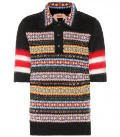 Wool and mohair-blend polo shirt at Mytheresa