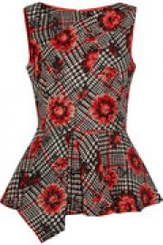 Wool and silk-blend jacquard peplum top at The Outnet