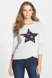 Wool andamp Cashmere Intarsia Crewneck Sweater at Nordstrom Rack