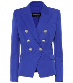 Wool blazer at Mytheresa