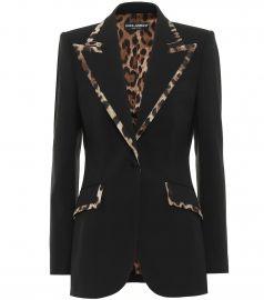 Wool-blend blazer at Mytheresa
