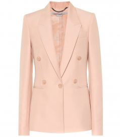 Wool blend blazer at Mytheresa