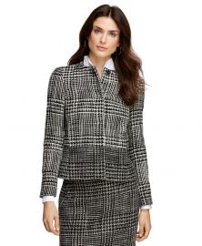 Wool blend boucle jacket at Brooks Brothers