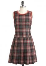 Wool plaid dress at Modcloth