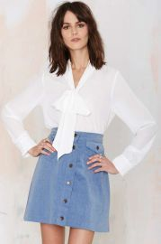 Work It Pussy Bow Blouse at Nasty Gal
