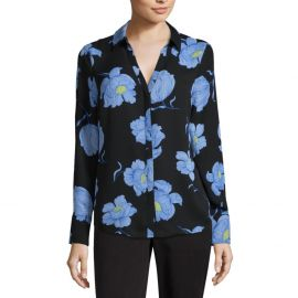 98fadf1bc8bb32 WornOnTV: Katie's black floral print blouse on American Housewife ...