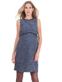 Woven Boucle Maternity Shift Dress by Seraphine at Seraphine