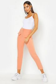 Woven Contrast Stitch Pocket Pants at Boohoo