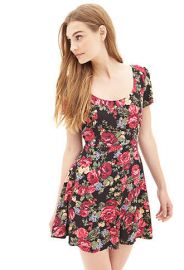 Woven Floral Skater Dress at Forever 21