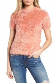 Woven Heart Eyelash Sweater at Nordstrom