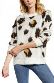 Woven Heart Leopard Pullover   Nordstrom at Nordstrom
