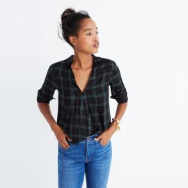 Wrap Front Shirt in Palma Plaid at Madewell